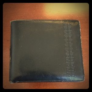 Vintage givenchy men's leather wallet bifold